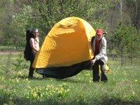 Перетаскивание палатки