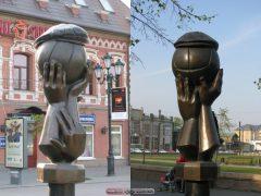 Челябинск. Памятник футбольным гопникам.