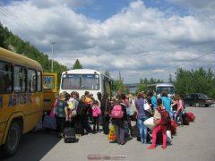 Погрузка в экскурсионные автобусы