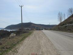 дорога от пристани в Ширяево