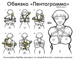 связывание рук и груди