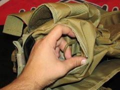 крепёжное кольцо внутри бокового кармана