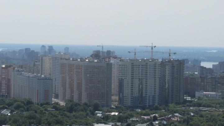 Вид на Самару с крыши ЖК Москва