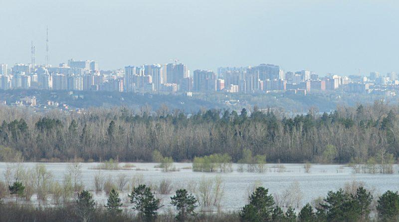 Панорама Самары из посёлка Южный