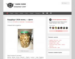 Сайт для лагеря Dark Side
