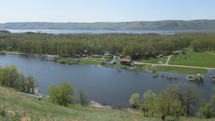 Панорамы с Мастрюковских озёр во время половодья