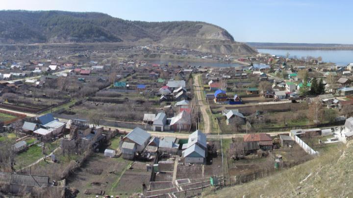 Ширяево, панорама села из 2013