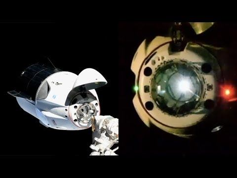 Dragon Crew docking with ISS