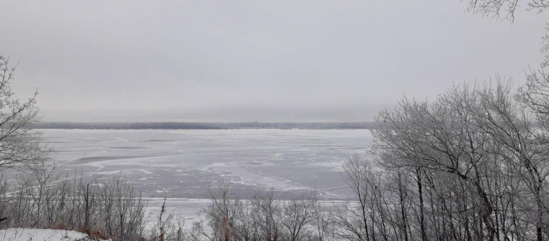 Зимние панорамы из санатория Волга