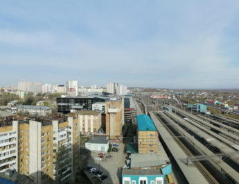 Панорамы со смотровой площадки ЖД вокзала